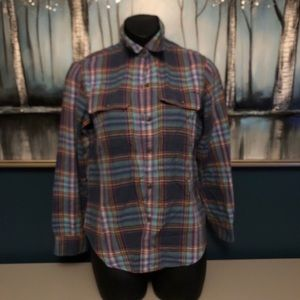 Chaps plaid Button Up Shirt  Small Petite